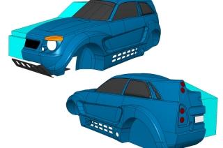 Макет концепта автомобиля LADA RAID - математическая модель