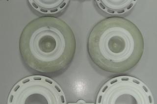 Прессформы для отливки колёс из полиуретана - готовые изделия